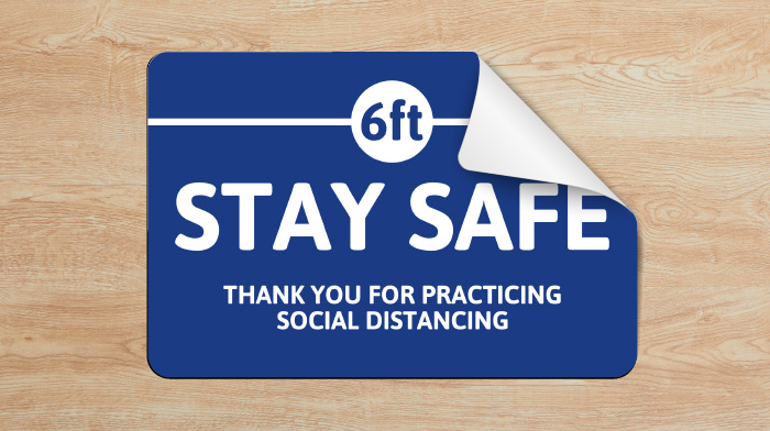 Individual Guide On Signs For 6 Feet Social Distancing